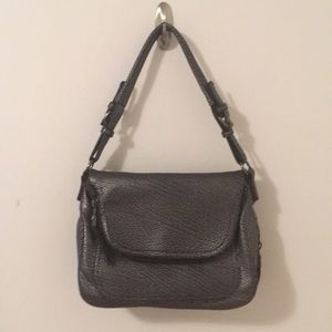 Macy's Silver Vegan Leather Purse